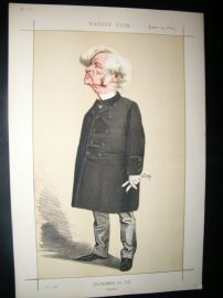 Vanity Fair Print 1872 Samuel Morley, Cartoon